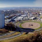 Aachen Panorama aus Richtung Europaplatz