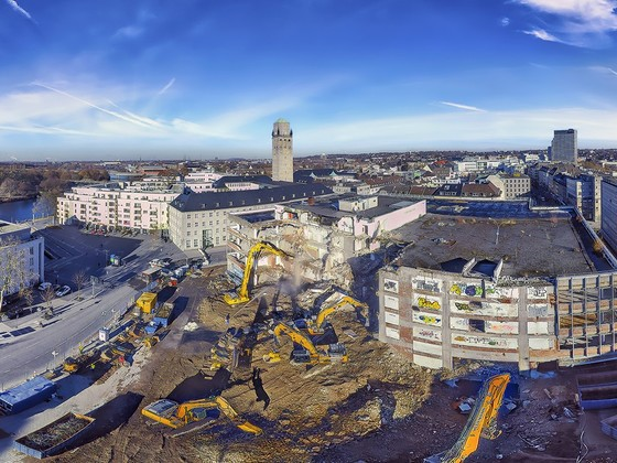 Kaufhof Abriss Mülheim a der Ruhr