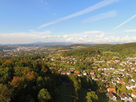 Bettingen (Schweiz), direkt an der Grenze zu Deutschland