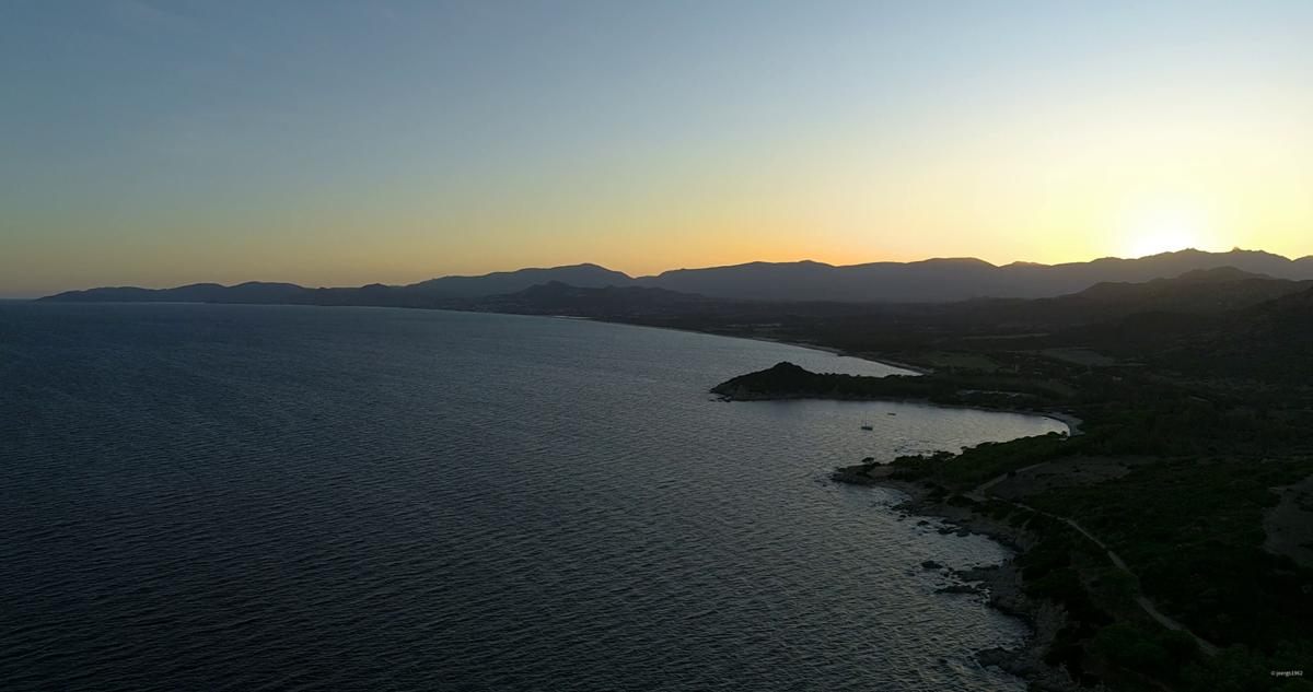 Sonnenuntergang Capo Ferrato Sardinien