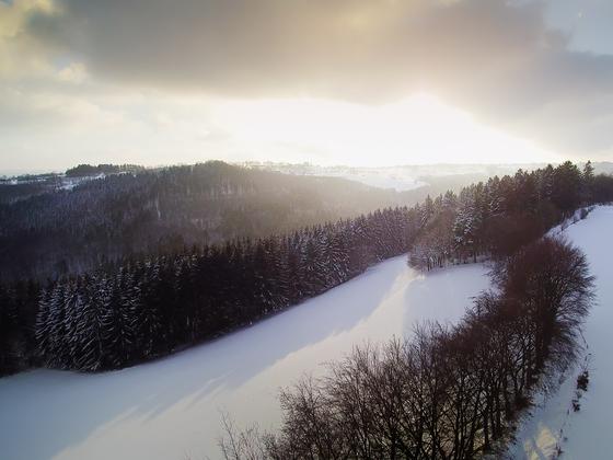 Die Eifel im Schnee