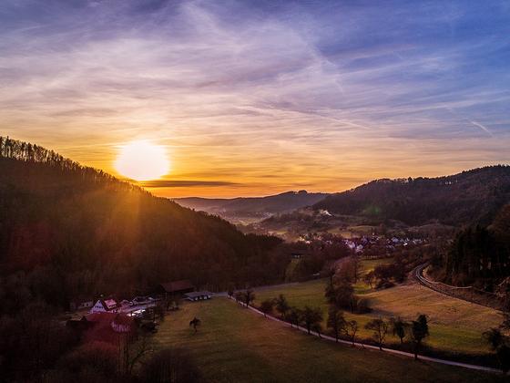 Sonnenuntergang über Rudersberg