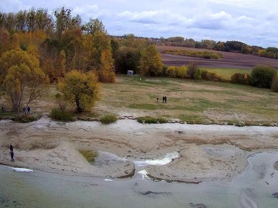 Die Müritz bei Niedrigwasser