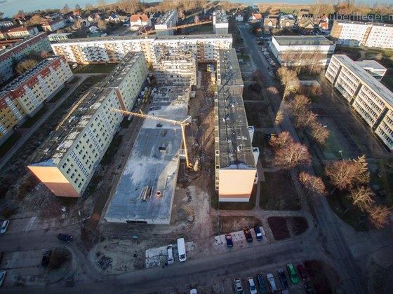 Neubau eines Wohnblocks