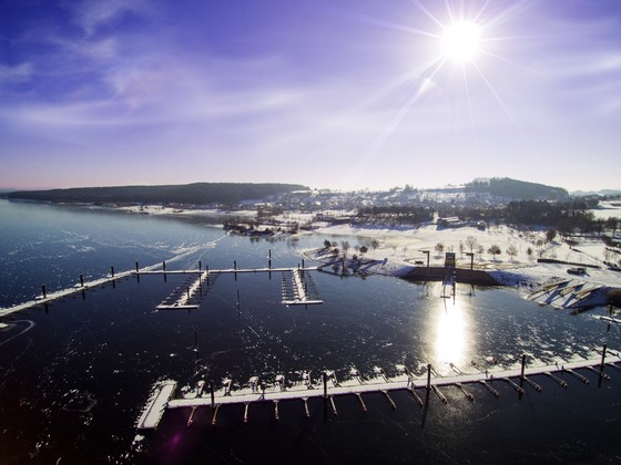 Segelhafen in Ramsberg am großen Brombachsee