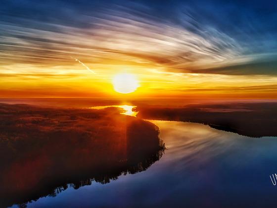Sonnenuntergang am Wolletzsee