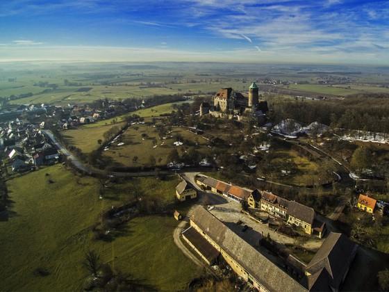 Blick auf Colmberg mit Burg Colmberg