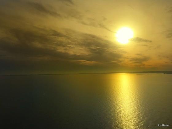 Heute um 9:00 Uhr auf der Überfahrt der Öresundbrücke (zwischen Schweden und Dänemark)