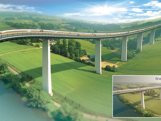 Ruhrtalbrücke abgedreht