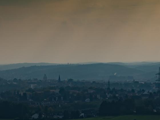 Ardeygebirge im Nebel